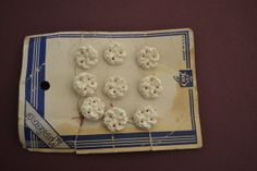 9 White Plastic Flower Knot Buttons 1/2 on by TwoChicksFinds, $7.00