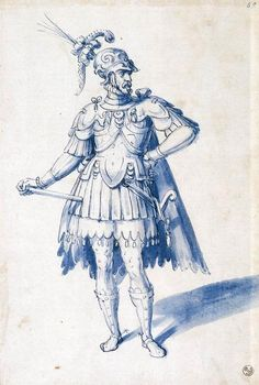 Costume for a man-at-arms, 1590s, Arcimboldo.