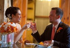 Cheers to the bride and groom! Wedding planning by Simply Wed. www.simplywed.com