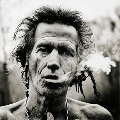 Look at Keith Richards face to learn what rock and roll can do to an icon.