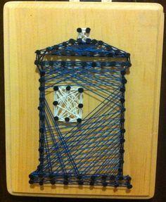 Image Tardis Art, String Art, Projects, Image, Geek Shirts, Log Projects, Blue Prints