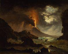 DAHL, Johan Norway 1788 – Germany 1857-10-14  Ausbruch des Vesuvs  [Eruption of Vesuvius] 1823