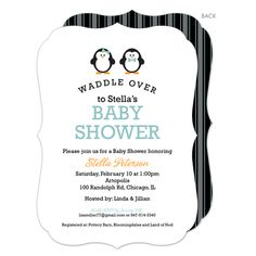 Three Pink Penguins Waddle Over Shower Invitations, Twins and Multiple Baby Shower Party Invitations, Create a Beautiful & Unique Personalized Three Pink Penguins Waddle Over Shower Invitations at Affordable Prices Shower Party, Baby Shower Parties, Baby Showers, Penguin Awareness Day, Triplet Babies, Gender Neutral Baby Shower, Triplets, Ink Color, Future Baby