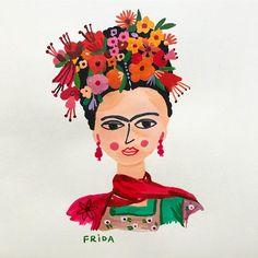 "6,463 Likes, 57 Comments - Carolyn Gavin (@carolynj) on Instagram: ""New Frida portrait. My style icon. #fridakahlo #frida #carolyngavinsketchbook…"""