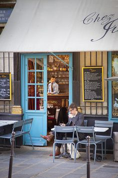 At the Cafe... Chez Julien - a small Cafe in the 4th Arrondissement, Paris France © Brian Jannsen Photography