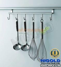 Kệ treo Inox loại 6 móc Higold - 403165 Tableware, Kitchen, Cuisine, Dinnerware, Dishes, Home Kitchens, Kitchens, Cucina