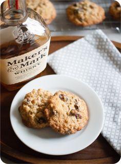 oatmeal bourbon raisin cookies