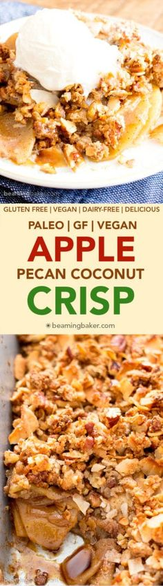 Apple Pecan Coconut Crisp Recipe (V, GF)