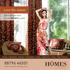 Brighten up your room with colourful floral curtains! Light coming from windows will splatter the colour of the curtains in your home. Floral prints in bright colour curtains are very popular as they soothe the eyes and make us feel fresh. #DigitalPrint #InteriorDesign #Curtains #Fabrics #FloralPrints #Decor #Wall #HomeDecor #BestDecor