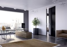 The Exclusive 200 interior door is designed to provide emphasis in the purity of lines and conceptualize the modern aesthetic combination of aluminium and various surface finishes such as carbon fiber.
