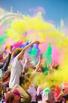 Festival of colors. (I am so going this year! About time!)