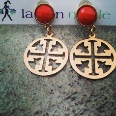 #toryburch inspired #earrings www.shoplaurennicole.com