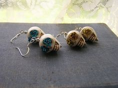 Check out this item in my Etsy shop https://www.etsy.com/listing/193689943/day-of-the-dead-earrings-wedding