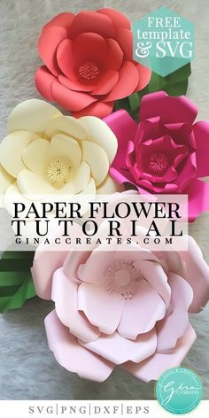 free paper flower template and SVG Video Tutorial How to Make a Giant Paper Flower How To Make Paper Flowers, Large Paper Flowers, Tissue Paper Flowers, Giant Paper Flowers, Diy Flowers, Paper Flower Making, Paper Butterflies, Free Paper Flower Templates, Paper Flower Tutorial