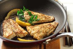 Cumin Crusted Fish | CanolaInfo | Sauté is quick, easy and healthy when using canola oil.