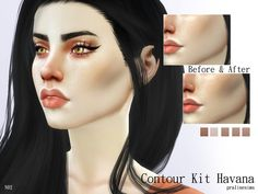 Contour blush in 5 colors.  Found in TSR Category 'Sims 4 Female Blush'