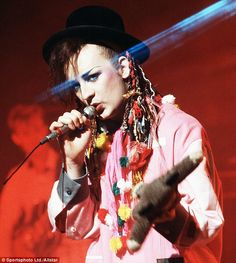 I always wanted to be Boy George when I was a little girl, just loved his colourfull energy...