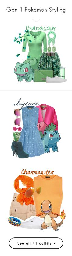 """""""Gen 1 Pokemon Styling"""" by freezespell ❤ liked on Polyvore featuring Doublju, Vanessa Virginia, Kate Spade, Cartier, Vans, Fraas, Stella & Dot, Chicnova Fashion, Yumi and Beacon"""