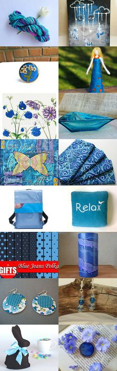 Blue for me, blue for you. Friends with benefits team. by Eva M Hermida on Etsy--Pinned with TreasuryPin.com