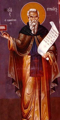 St. Gregory the Sinaite Byzantine Icons, Byzantine Art, Saint Catherine's Monastery, Becoming A Monk, 6 Avril, Religion, Religious Images, Orthodox Icons, Beautiful Paintings