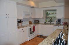 #white #kitchen #window #cabinets