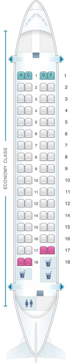 Seat Map Kingfisher Airlines Aerospatiale ATR72 500 66PAX