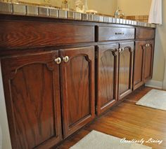 Refinishing #2: Refinishing Cabinets in 1 Hour - Creatively Living Blog
