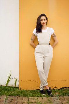 OiClo: Look da Clo: Macacão de alfaiataria www.oiclo.com.br   @clohmello @lucasfmcorrea