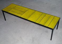 1970s Glazed Lava Low Table