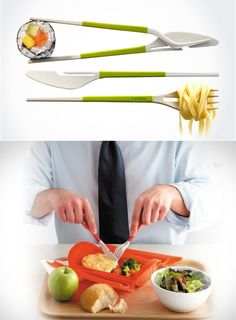 All-in-one silverware + chopsticks