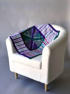 Free Pattern Friday - Wraparound Blankie knit in Uptown DK Magix and Uptown DK
