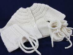 Wool & Alpaca Baby Sweater Set - pinned by pin4etsy.com