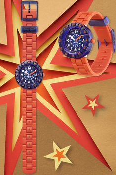 Who said it was boring to learn to tell the time was boring? A true show-stopper, ORANGEBRICK (ZFCSP103) is bright, brilliant and ready to kick-start their imagination. A vibrant orange Swiss watch for kids that has BPA free parts, alongside a shock and water resistant case, to make it the coolest gift for kids out there. A real winner for teaching them to tell the time in transit. Cool Gifts For Kids, Swiss Watch, Telling Time, Imagination, Swatch, Vibrant, Bright, Teaching, Orange