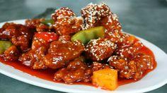 Готовим традиционное китайское блюдо - пикантную курицу в нежнейшем белковом кляре с кисло-сладким соусом!