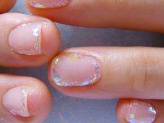 Glitter edges