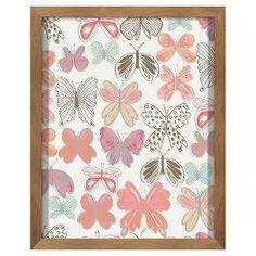 Butterflies Screen Printed Glass Art - Pillowfort™ : Target