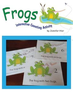 Create a busy book, a math center activity, or a take-home activity binder with this fun freebie.  Children will practice counting as they