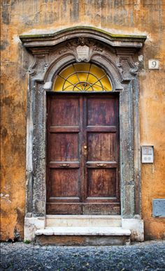 Rome, Italy  <3  What a GORGEOUS door!!!!  Wish that was here in Utah!  That would be PERFECT to photograph a family in front of!  <3
