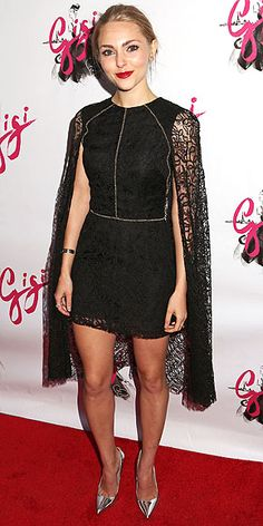 It's a cape! It's a mini! No, it's a SuperDress! AnnaSophia Robb's lace cocktail number is truly a one-piece wonder.