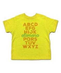 Another great find on #zulily! Yellow 'Elemeno' Tee - Toddler & Kids #zulilyfinds