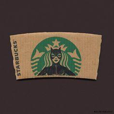 Ilustrador transforma sereia do Starbucks em personagens pop