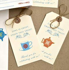 Gift Tags for Vintage Mod Kitchen Shower