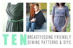 Got Milk? 10 Patterns and DIYs for Breastfeeding Moms - The Sewing Rabbit Sewing Maternity Clothes, Diy Nursing Clothes, Maternity Gowns, Sewing Clothes, Breastfeeding Fashion, Breastfeeding Clothes, Diy Clothing, Clothing Patterns, Sewing Patterns