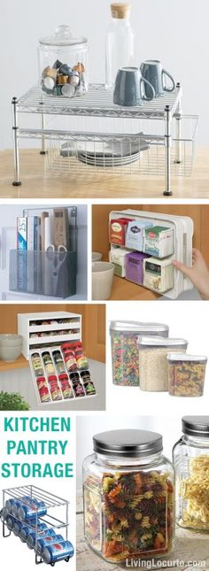 Kitchen Pantry Storage Ideas. Love these containers to help you get organized.