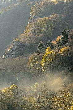 Autumn hills - Dinant, Belgium by Bart Heirweg