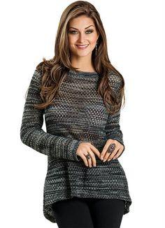 Blusas maravilhosas para te deixar quentinha neste inverno!!! http://www.posthaus.com.br/moda/blusa-mullet-em-trico-cinza-e-preto_art148111.html?mkt=PH6544