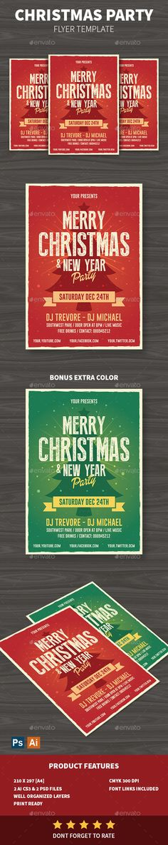 Red Music Party Celebration Flyer Template  Music Party And Flyer