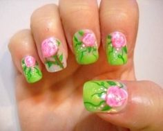 Nail Tutorail - Shabby Chic Summer Rose - Request