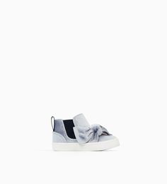 ZARA - KIDS - HIGH TOP SNEAKERS WITH VELVET BOW