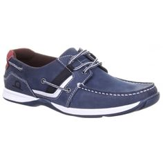 Goodison II Boat Shoe - Navy. Lace system deck shoe made with premium leathers. Butted apron seam with side lace detail and padding at the collar as well as under foot for comfort. Features a non-slip siped rubber sole unit with aqua jet channeling and non-marking sole. Part of Chathams Sport collection. http://www.marshallshoes.co.uk/mens-c1/chatham-mens-goodison-ii-navy-lace-boat-shoe-p3793